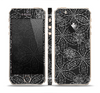 The Black & White Floral Lace Skin Set for the Apple iPhone 5s