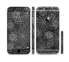 The Black & White Floral Lace Sectioned Skin Series for the Apple iPhone 6 Plus