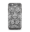 The Black & White Mirrored Floral Pattern V2 Apple iPhone 6 Plus Otterbox Symmetry Case Skin Set