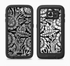 The Black & White Mirrored Floral Pattern V2 Full Body Samsung Galaxy S6 LifeProof Fre Case Skin Kit