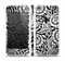 The Black & White Mirrored Floral Pattern V2 Skin Set for the Apple iPhone 5