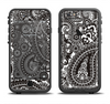 The Black & White Paisley Pattern V1 Apple iPhone 6/6s Plus LifeProof Fre Case Skin Set