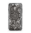 The Black & White Paisley Pattern V1 Apple iPhone 6 Plus Otterbox Symmetry Case Skin Set