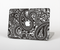 The Black & White Paisley Pattern V1 Skin Set for the Apple MacBook Air 11""
