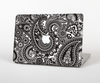 The Black & White Pasiley Pattern Skin Set for the Apple MacBook Air 11""