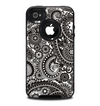 The Black & White Pasiley Pattern Skin for the iPhone 4-4s OtterBox Commuter Case