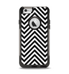 The Black & White Sharp Chevron Pattern Apple iPhone 6 Otterbox Commuter Case Skin Set