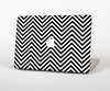 The Black & White Sharp Chevron Pattern Skin Set for the Apple MacBook Air 11""