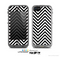 The Black & White Sharp Chevron Pattern Skin for the Apple iPhone 5c LifeProof Case