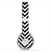 The Black & White Sharp Chevron Pattern Skin for the Beats by Dre Solo 2 Headphones