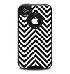 The Black & White Sharp Chevron Pattern Skin for the iPhone 4-4s OtterBox Commuter Case