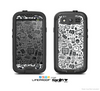 The Black & White Technology Icon Skin For The Samsung Galaxy S3 LifeProof Case