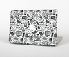 The Black & White Technology Icon Skin Set for the Apple MacBook Air 11""