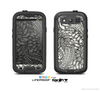 The Black & White Vector Floral Connect Skin For The Samsung Galaxy S3 LifeProof Case