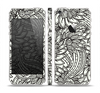 The Black & White Vector Floral Connect Skin Set for the Apple iPhone 5