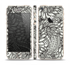 The Black & White Vector Floral Connect Skin Set for the Apple iPhone 5s