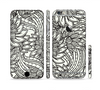The Black & White Vector Floral Connect Sectioned Skin Series for the Apple iPhone 6
