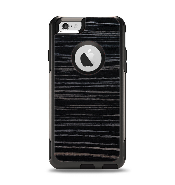 The Black Wood Texture Apple iPhone 6 Otterbox Commuter Case Skin Set