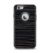 The Black Wood Texture Apple iPhone 6 Otterbox Defender Case Skin Set