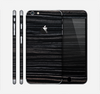The Black Wood Texture Skin for the Apple iPhone 6 Plus