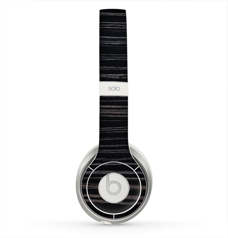 The Black Wood Texture Skin for the Beats by Dre Solo 2 Headphones