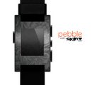 The Black & Gray Dark Lace Floral Skin for the Pebble SmartWatch