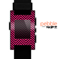 The Black & Pink Sharp Chevron Pattern Skin for the Pebble SmartWatch