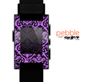 The Black & Purple Delicate Pattern Skin for the Pebble SmartWatch