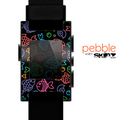 The Black & Vector Color-Fish Skin for the Pebble SmartWatch