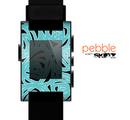 The Black & Vector Subtle Blues Pattern Skin for the Pebble SmartWatch