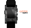 The Black & White Floral Lace Skin for the Pebble SmartWatch