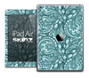The Blue and Black Paisley Pattern Skin for the iPad Air