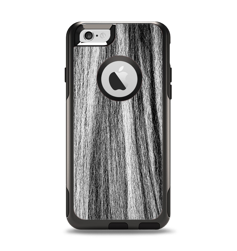 The Black and Grey Frizzy Texture Apple iPhone 6 Otterbox Commuter Case Skin Set