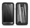 The Black and Grey Frizzy Texture Samsung Galaxy S4 LifeProof Fre Case Skin Set