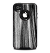 The Black and Grey Frizzy Texture Skin for the iPhone 4-4s OtterBox Commuter Case
