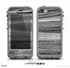 The Black and Grey Frizzy Texture Skin for the iPhone 5c nüüd LifeProof Case