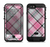 The Black and Pink Layered Plaid V5 Apple iPhone 6/6s LifeProof Fre POWER Case Skin Set