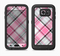 The Black and Pink Layered Plaid V5 Full Body Samsung Galaxy S6 LifeProof Fre Case Skin Kit