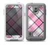 The Black and Pink Layered Plaid V5 Skin Samsung Galaxy S5 frē LifeProof Case