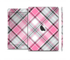 The Black and Pink Layered Plaid V5 Skin Set for the Apple iPad Mini 4
