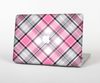 The Black and Pink Layered Plaid V5 Skin for the Apple MacBook Pro Retina 13""