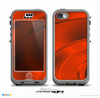 The Black and Red Wavy Surface Skin for the iPhone 5c nüüd LifeProof Case