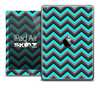 The Black and Turquoise Chevron Skin for the iPad Air