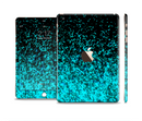 The Black and Turquoise Unfocused Sparkle Print Full Body Skin Set for the Apple iPad Mini 3