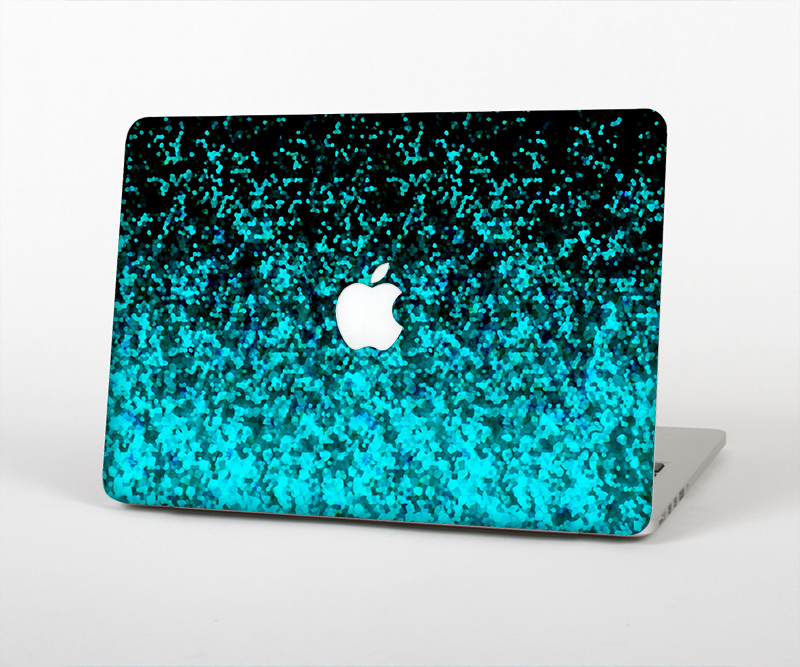 "The Black and Turquoise Unfocused Sparkle Print Skin Set for the Apple MacBook Pro 15"" with Retina Display"