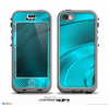 The Black and Turquoise Wavy Surface Skin for the iPhone 5c nüüd LifeProof Case