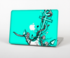 The Black and White Anchor with Roses on Trendy Green Skin for the Apple MacBook Pro 15""