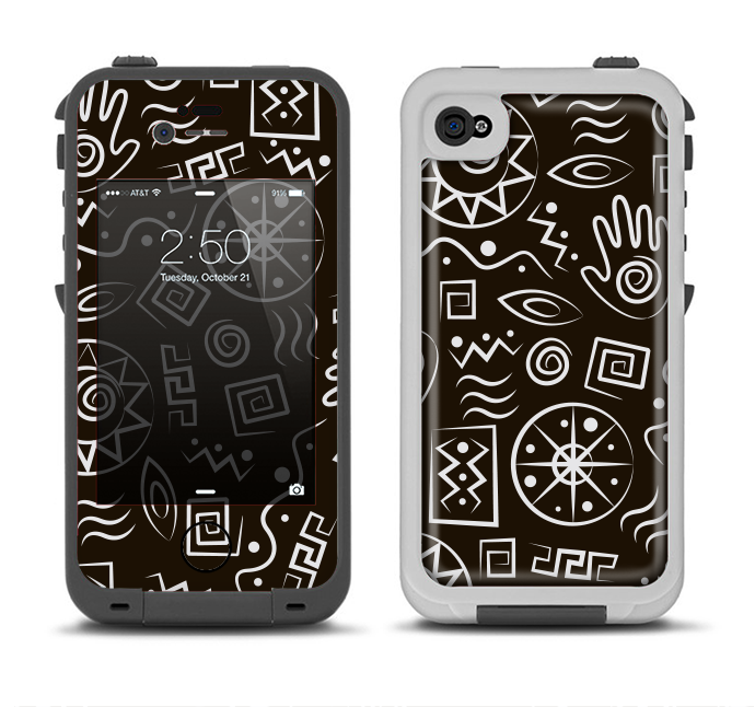 The Black And White Cave Symbols Apple Iphone 4 4s Lifeproof Fre