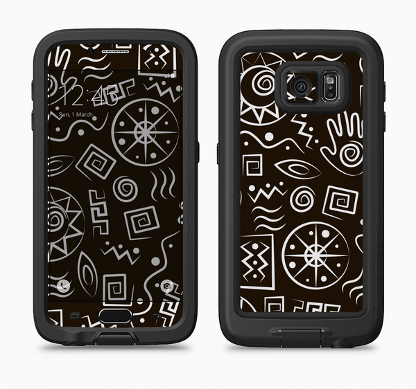 The Black and White Cave Symbols Full Body Samsung Galaxy S6 LifeProof Fre Case Skin Kit