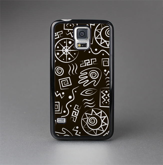 The Black And White Cave Symbols Skin Sert Case For The Samsung